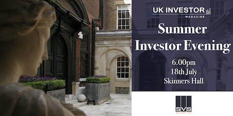SVS Securities & UK Investor Magazine  Summer Investor Evening tickets