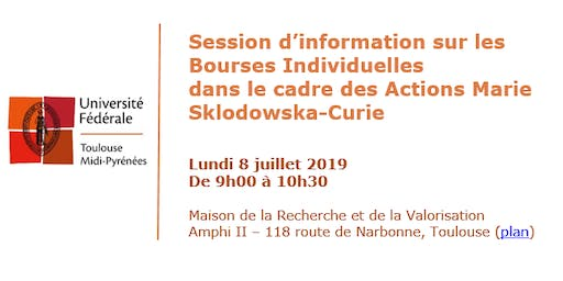 Session d'information: Bourses Individuelles Actions Marie Sklodowska-Curie