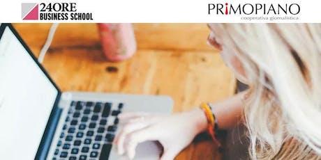 Corso Web & Social Writing biglietti