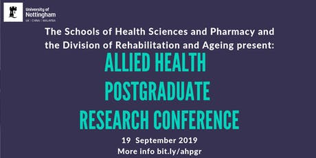 Allied Health Postgraduate Research Conference (AHPGR) tickets