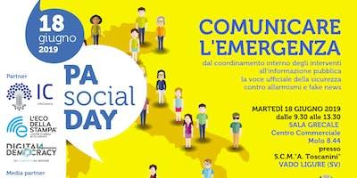 """PA SOCIAL DAY 2019 """"COMUNICARE L'EMERGENZA"""""""