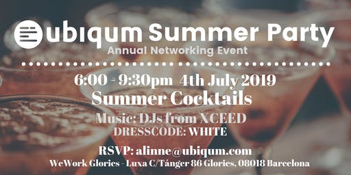 Ubiqum Summer Party: Annual Networking Event-WHITE PARTY