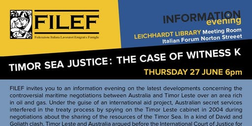 Timor Sea Justice : the Case of Witness K