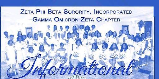 Gamma Omicron Zeta Chapter Informational
