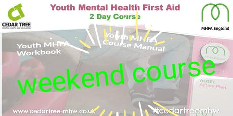 Mental Health First Aid (Youth) - 2 Day course (NOTE: Weekend course - Sat & Sun) tickets