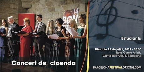 Concierto final del XV Barcelona Festival of Song entradas