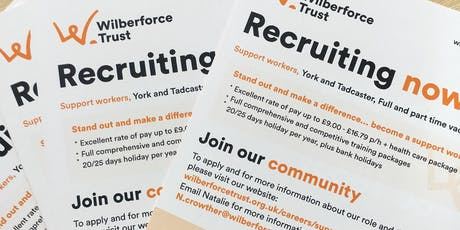 Wilberforce Trust Support Worker Recruitment Open Evening & Pizza Party tickets