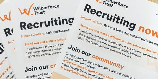 Wilberforce Trust Support Worker Recruitment Open Evening & Pizza Party