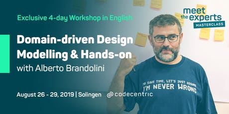 Meet the Experts Masterclass: Domain-driven Design – Modelling & Hands-on with Alberto Brandolini in Solingen Tickets