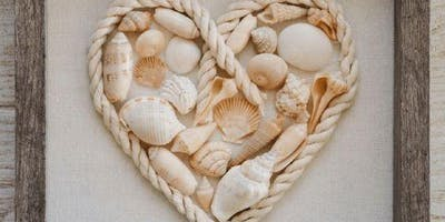 Kids Seashell Heart Shadow Box Class - Wednesday 8/21 - West Chester PA