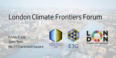 London Climate Frontiers Forum tickets