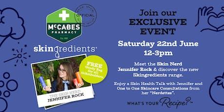 The Skin Nerd : Jennifer Rock Skingredients Launch tickets
