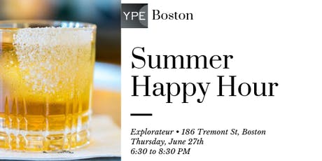 YPE Boston Summer Happy Hour tickets