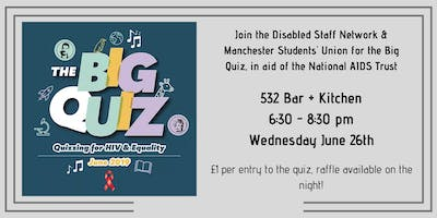 The Big Quiz  in aid of the National AIDS Trust - University of Manchester