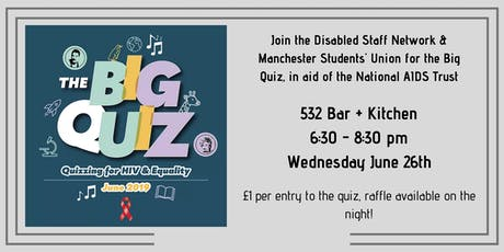 The Big Quiz  in aid of the National AIDS Trust - University of Manchester tickets