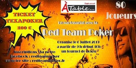 Tournoi Partenaire Red Team Poker et Restaurant A Table de Brioux le 6 juillet 2019  billets