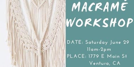 Macrame Workshop w/ C By The Sea Shoppe [] TheSpaceVta [] tickets