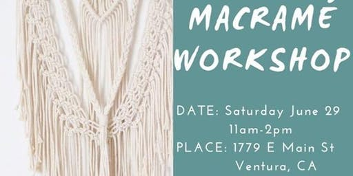 Macrame Workshop w/ C By The Sea Shoppe [] TheSpaceVta []