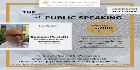 THE ART OF PUBLIC SPEAKING tickets