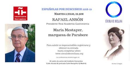 MARQUESA PARABERE por Rafael Ansón entradas
