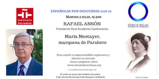 MARQUESA PARABERE por Rafael Ansón