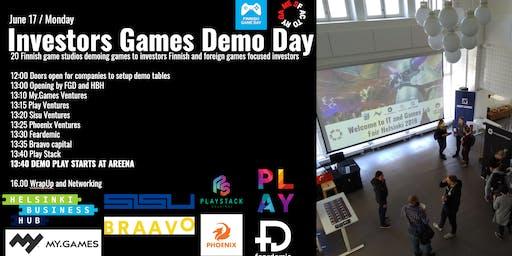 Investors Games Demo Day Helsinki