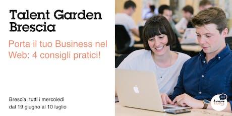 Porta il tuo Business nel Web: 4 consigli pratici!  biglietti