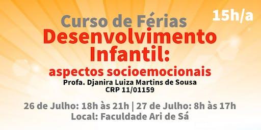 Curso de Férias: Desenvolvimento Infantil: aspectos socioemocionais