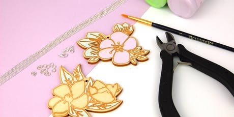 Hand Painted Wooden Jewellery/ Keyring Workshop tickets