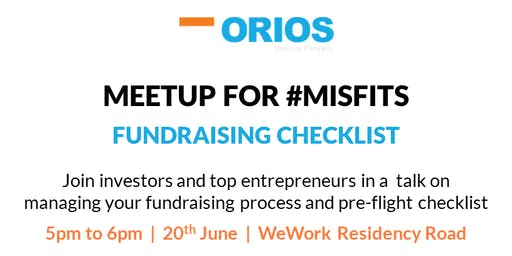 Fundraising Checklist - Meetup for #Misfits