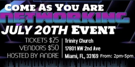 COME AS YOU ARE NETWORKING EVENT  tickets