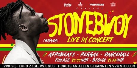 STONEBWOY (GHANA / WEST AFRIKA) LIVE IN BERLIN Tickets