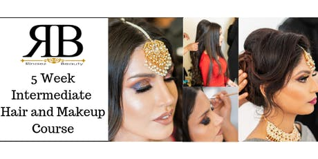 5 Week Intermediate Hair and Makeup Training Course with RB tickets