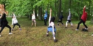 Hikyoga at Churchville Park with Shavaughn