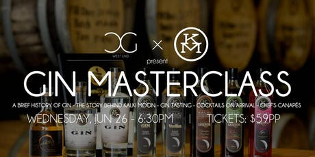 Gin Masterclass - presented by Kalki Moon tickets