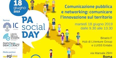 PA  Social Day - Comunicazione pubblica e networking: comunicare l'innovazione sul territorio biglietti