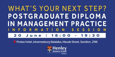 PGDip Information Session - Sandton | #HenleyAfrica tickets