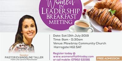 Women in leadership breakfast meeting 2019