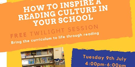 How to Inspire a Reading Culture in Your School tickets
