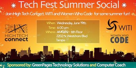 Tech Fest Summer Social, by High Tech Connect, WITI & Women Who Code tickets