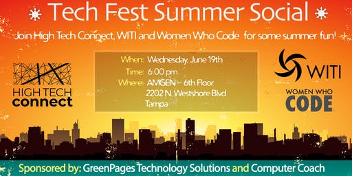 Tech Fest Summer Social, by High Tech Connect, WITI & Women Who Code