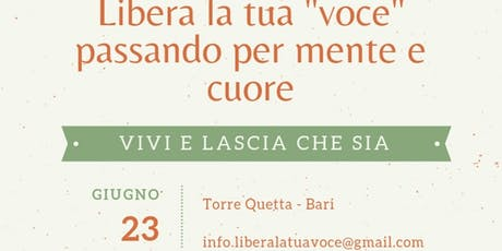 Vivi E Lascia Che Sia| Workshop biglietti