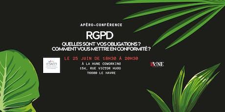 Apéro conférence sur : 'La mise en conformité au RGPD' billets