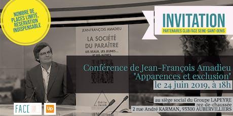 Club FACE - Seine-Saint-Denis - Conférence de Jean-François Amadieu billets