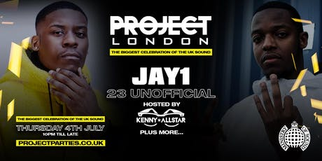 Project London Presents: Jay1 & 23 UnOfficial Live @Ministry of Sound - (OFFICIAL WIRELESS PRE PARTY) Plus Special Guests! tickets
