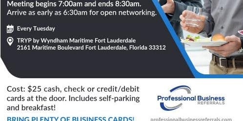 Visitor's Day at Fort Lauderdale Networking Event
