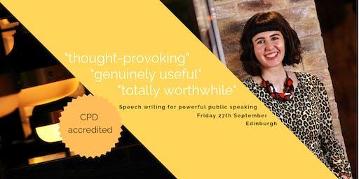 Speech writing for powerful public speaking