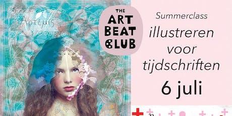 Summerclass illustreren voor tijdschriften tickets