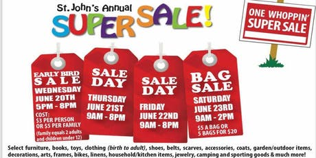 St. John's Annual SuperSale tickets