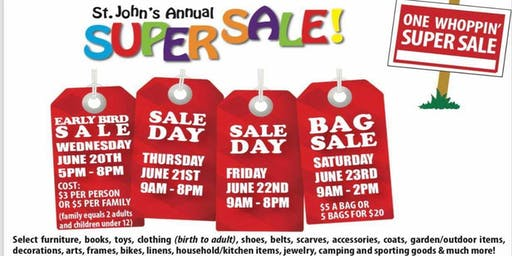 St. John's Annual SuperSale